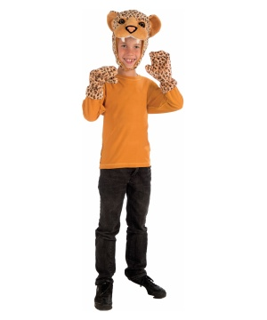 Leopard Hood and Mitt Costume Kit