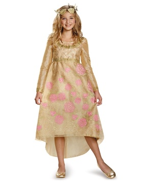 Maleficent Aurora Coronation Gown Girls Costume deluxe