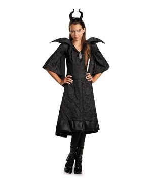 Maleficent Christening Black Gown Classic Girl Costume