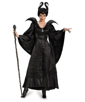 Maleficent Christening Black Gown Womens Costume