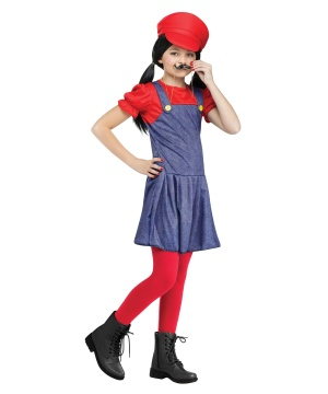 Mario Pretty Plumber Girls Costume