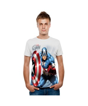Marvel Captain America Digital Mens T-shirt