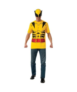 Marvel X-men Wolverine Mens Costume T-shirt