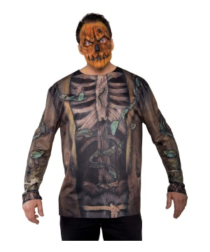 Mens Photo Print Scarecrow Costume Shirt