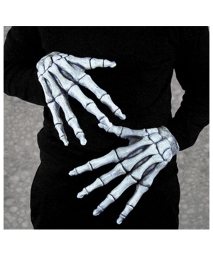 Ghostly Bones Adult Gloves