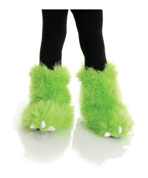 Neon Green Monster Kids Boots