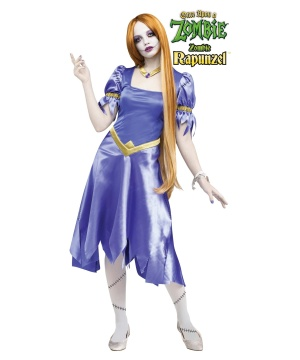 zombie rapunzel womens costume