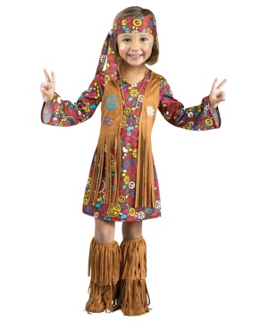 Peace and Love Hippie Baby/ Toddler Costume