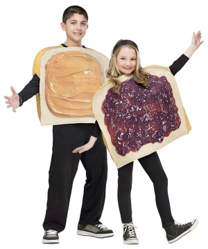 Peanut Butter Jelly Kids Couple Costume