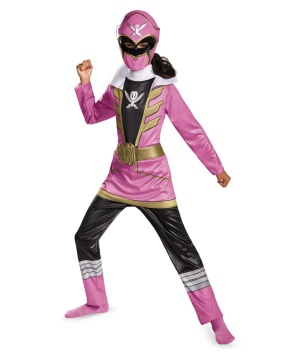 Pink Power Ranger Girls Costume