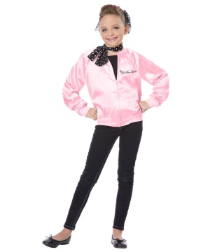 Pink Satin Ladies Girls Costume