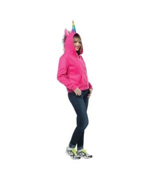 Pink Unicorn Womens Hoodie