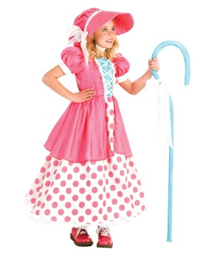 Polka Dot Bo Peep Girls Costume