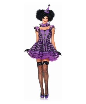 Pretty Parisian Clown Womens Costume