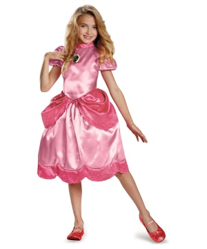 Princess Peach Girls Costume
