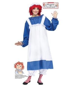 Raggedy Ann Womens Costume