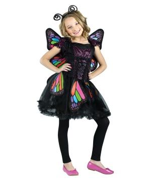 Rainbow Butterfly Girls Costume