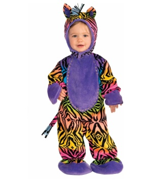 Party Animal Rainbow Zebra Baby Costume