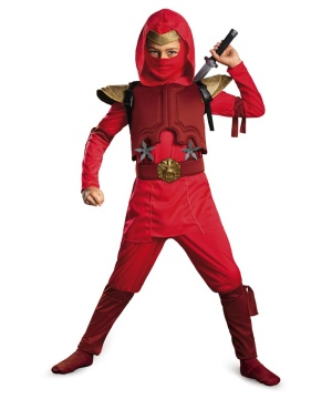 Red Fire Ninja Toddler/ Boys Costume deluxe