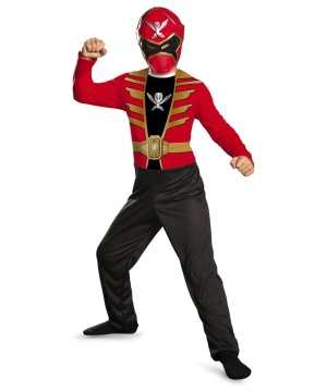 Red Power Ranger Super Megaforce Economy Boys Costume