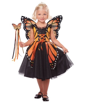 Regal Monarch Butterfly Princess Girls Costume