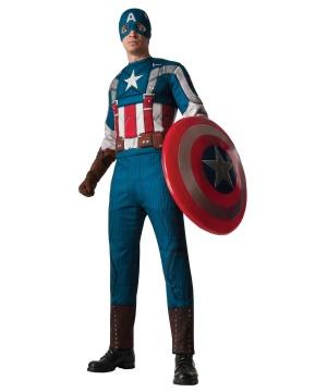 Retro Captain America Mens Muscle Costume