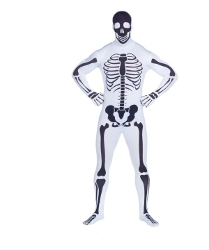 Reverse Skeleton Skin Suit Mens Costume