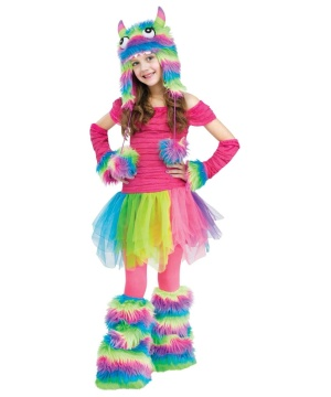 Rockin Rainbow Monster Ballerina Girls Costume