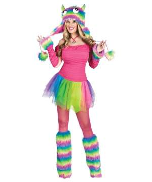 Rockin Rainbow Monster Ballerina Womens Costume
