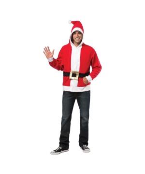 Santa Hoodie Adult Costume