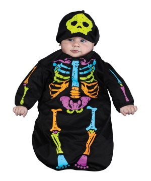 Skeleton Bunting Baby Costume