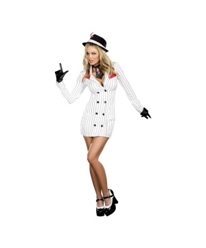 Smooth Criminal Gangster Gal Womens Costume