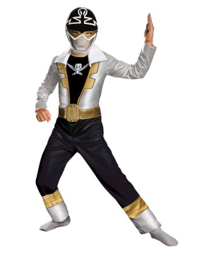 Special Silver Power Ranger Super Megaforce Boys Costume