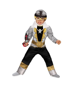 Special Silver Ranger Super Megaforce Toddler/ Boys Muscle Costume
