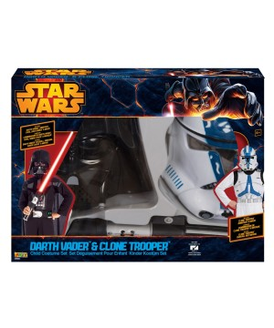 Star Wars Darth Vader and Clone Trooper Boys Costume Set