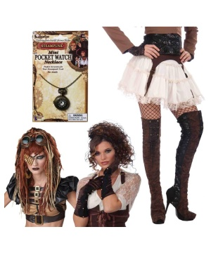 Steampunk Saloon Babe Costume Kit