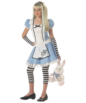 Kids Storybook Alice Tween Girls Costume