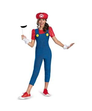 Super Mario Brothers Mario Girl Tween Costume