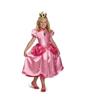 Super Mario Brothers Princess Peach Girls Costume deluxe