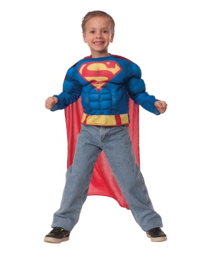 Superman Boys Muscle Costume Shirt