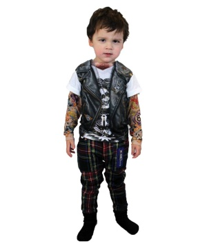 Tattoo Long Sleeve Boys Costume Shirt