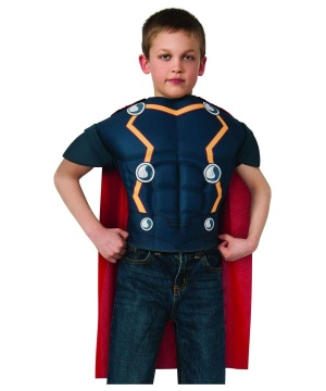 Thor Boys Muscle Costume Shirt