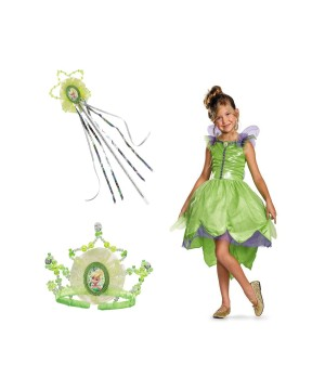 Tinker Bell Glam Fairy Makeover Girls Costume Set