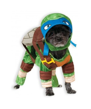 Tmnt Ninja Turtles Leonardo Dog Costume