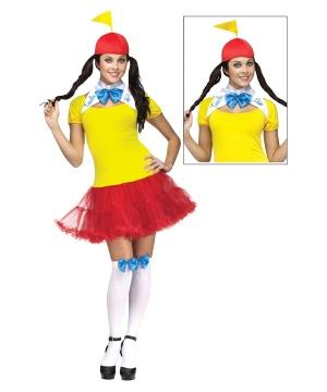 Tweedle Dee Dum Womens Costume