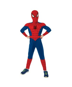 Ultimate Spiderman Muscle Chest Boys Costume