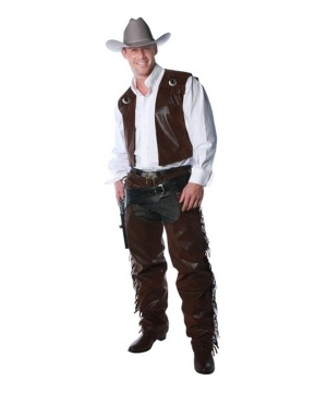 Cowboy Vest and Chaps Set Adult
