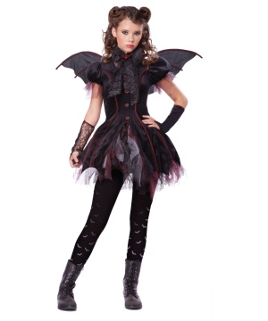 Victorian Vampiress Girls Costume deluxe