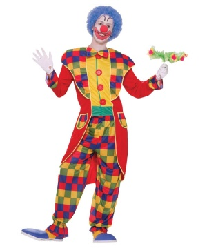 Vintage Clown Tuxedo Mens Costume