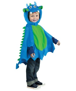 Wacky Dragon Blue Cape Toddler Kids Unisex Accessory